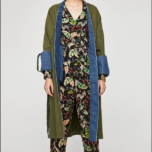 Zara zebra jungle print pajama style outfit